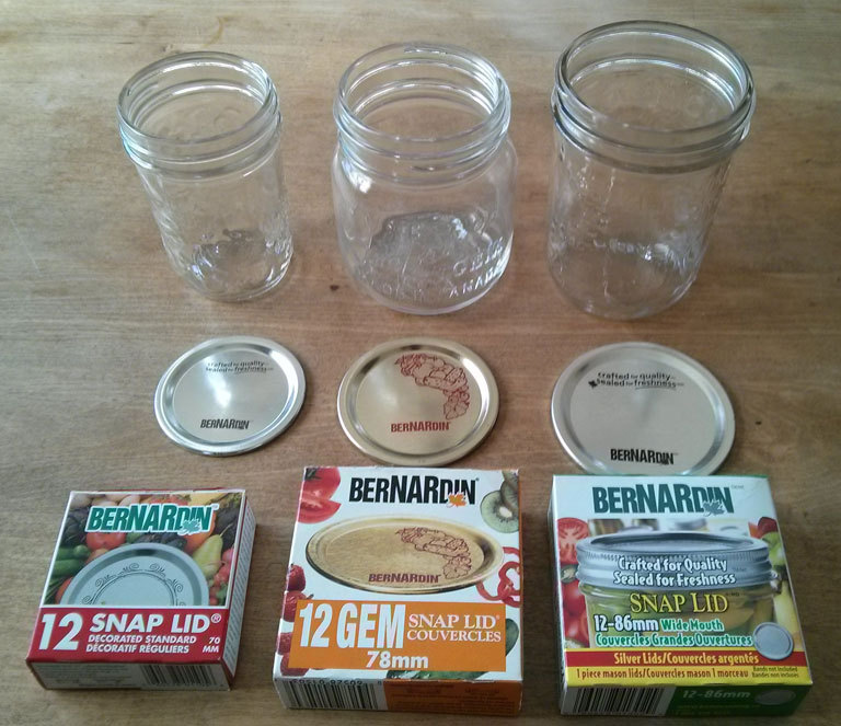 Mason Jar Lid Sizes